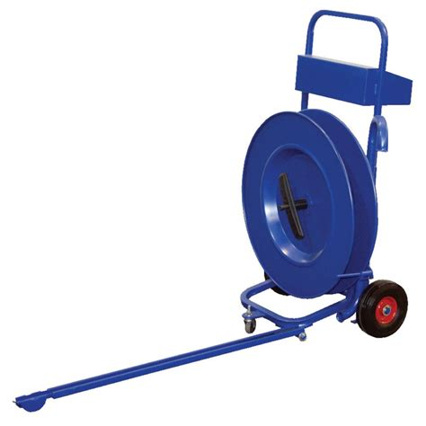 vestil strap p manual pallet probe strapping  banding cart  poly strapping