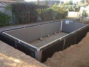 construction d39une piscine beton unibeo par aquarev With construction d une piscine beton