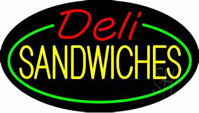 Sign Deli Neon Sandwiches Signs Animated