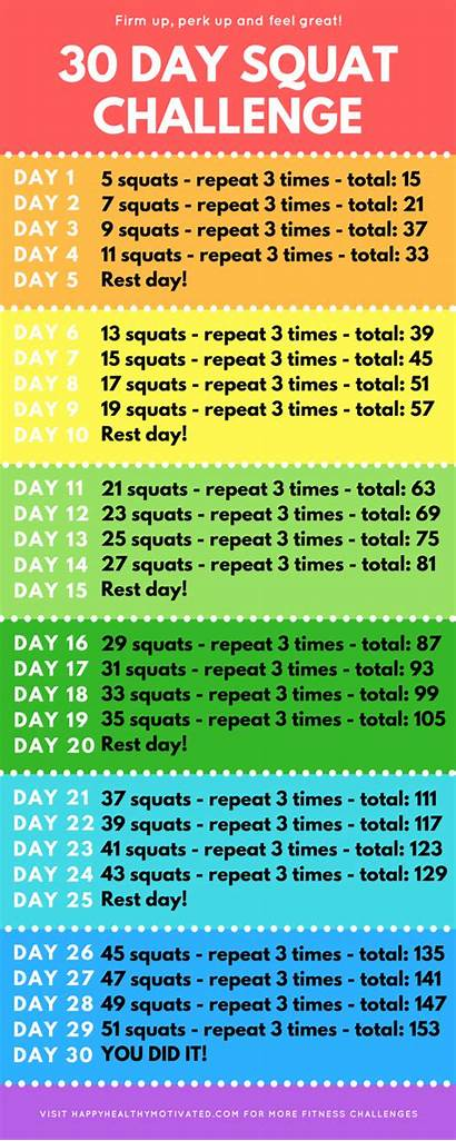 Squat Challenge Beginners Beginner Fitness Workout Happyhealthymotivated