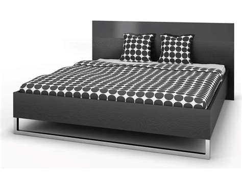 chambre adulte 160x200 lit 160x200 cm style coloris noir vente de lit adulte