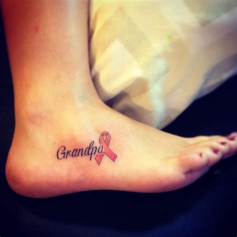 grandpa tattoo leukemia ribbon     im   putting nicoles  cancer