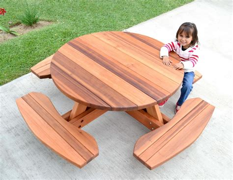 Kid's Round Picnic Table Set, Built To Last Decades