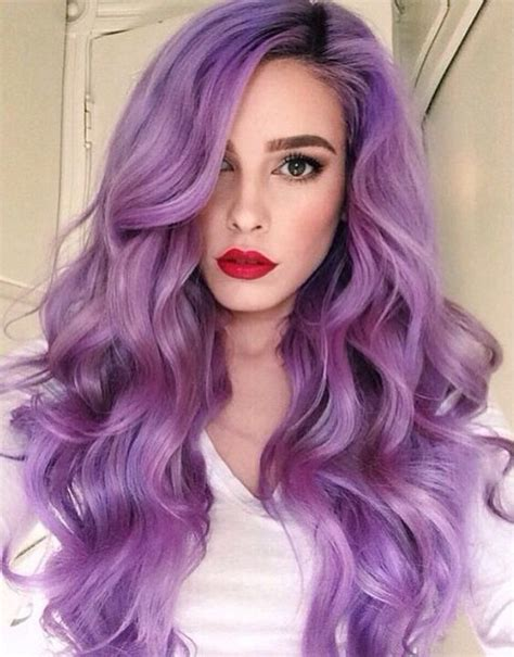 Picture Of Pastel Purple Hair For Romantic Girls