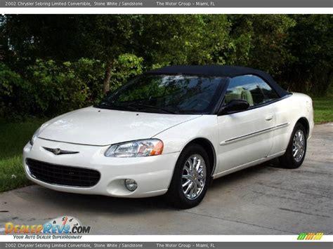 Chrysler Sebring Convertible 2002 by 2002 Chrysler Sebring Limited Convertible White