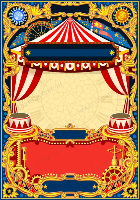 circus editable frame vector image illustration