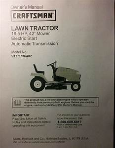 Sears Craftsman Dyt4000 Riding Lawn Tractor Owner  U0026 Parts