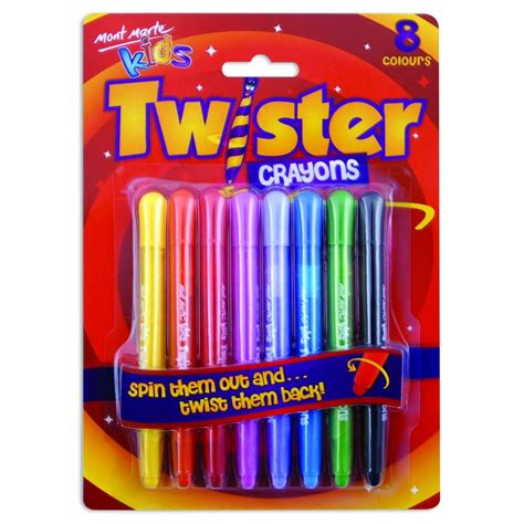 mont marte kids twister crayons pce