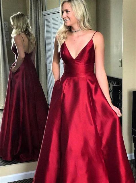 fashion burgundy long prom dress 2019 fashion formal