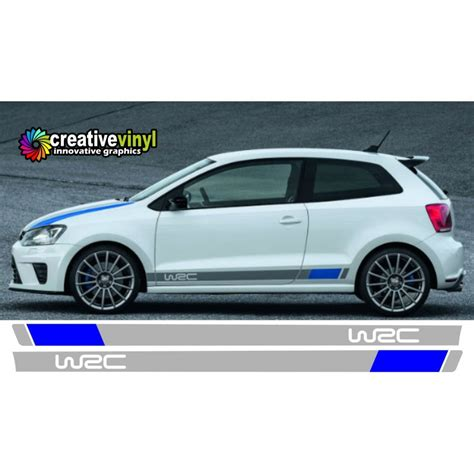 volkswagen polo  wrc side stripes