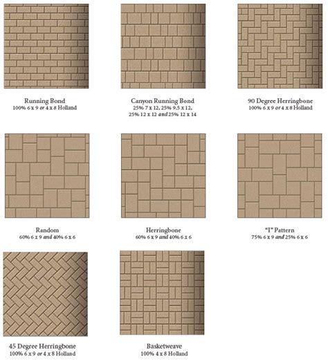 pattern pavers garden state pavers pattern options clayton companies