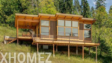 hillside cabin plans hillside cabin plans h187 custom country hillside house plans construction