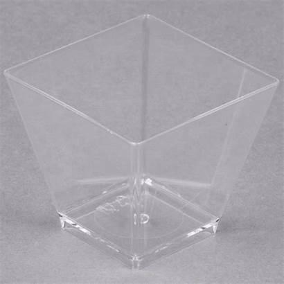 Plastic Cube Clear Cl Barware Tiny Webstaurantstore