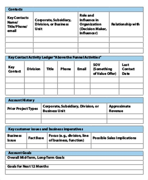 account plan template 40 strategic plan templates free premium templates