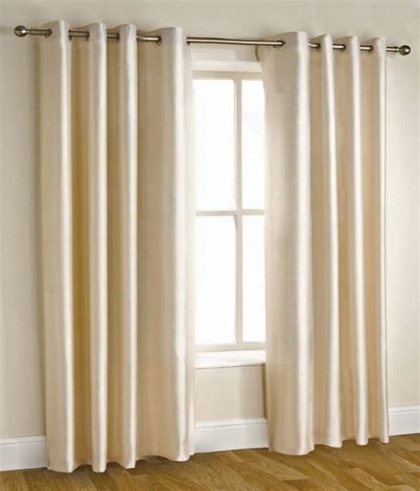 Window Curtains by Homefab India Set Of 2 Window Eyelet Curtains Solid Buy