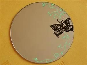 Peinture Argentée Spéciale Miroir : autre cr ation 2 peinture sur miroir 1 artstattooraph ~ Dailycaller-alerts.com Idées de Décoration