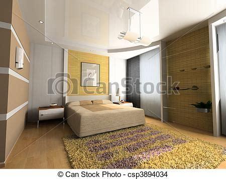 Modern Bedroom Interior Design Computer Generated Image by Drawing Of Modern Bedroom Interior Design Computer
