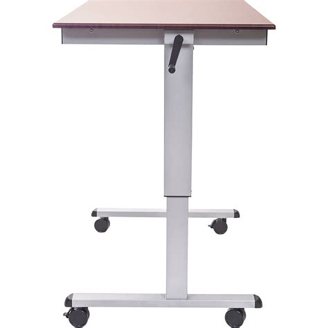 stand up height adjustable desk luxor crank adjustable stand up desk standup cf48 dw b h photo