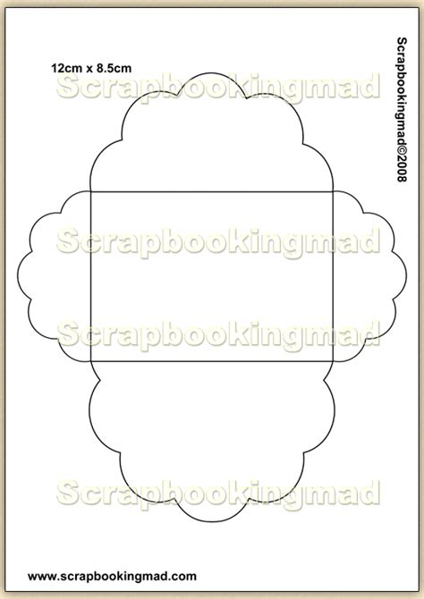 template overlay decorative envelopes  sheet