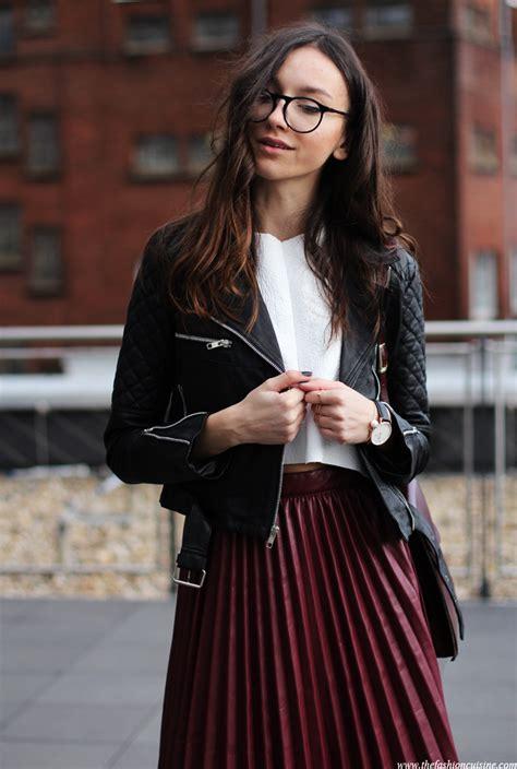 Leather Pleats u2022 The Fashion Cuisine