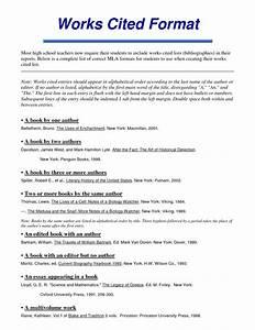 work cited format mla