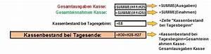 Excel Wochentag Berechnen : bargeldkasse und z hlbogen in excel erstellen office ~ Themetempest.com Abrechnung