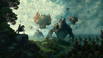 Medieval Wallpapers Airship Fantasy Desktop Background Landscape
