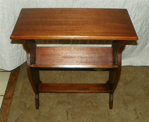End Table Bookcase by Mahogany Bookshelf Table End Table T372 Ebay