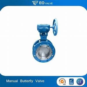 Worm Gear Double Flange Manual Butterfly Valve