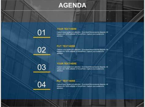 company business agenda representation chart powerpoint