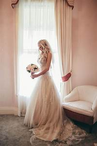 Champagne wedding dress and veil the brides tree for Veil for champagne wedding dress