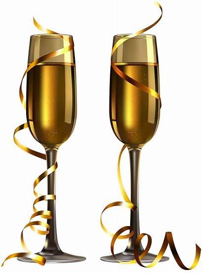 Champagne Glasses Glass Clipart Wine Tubes Happy