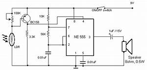 a daylight alarm circuit diagram presentation circuit With direct coupled discrete astable multivibrator circuit diagram