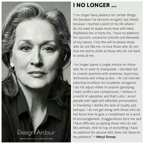 I No Longer Meryl Streep  Selfesteem Quotes & Sayings