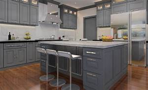 Classic Grey Cabinets ready to assemble kitchen cabinets
