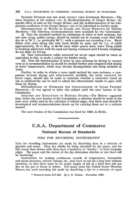 us bureau of standards u s a department of commerce national bureau of