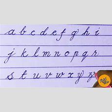 English Small Alphabets  Cursive Handwriting  Stylish Writer Youtube