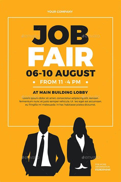 job fair flyer templates psd eps vector