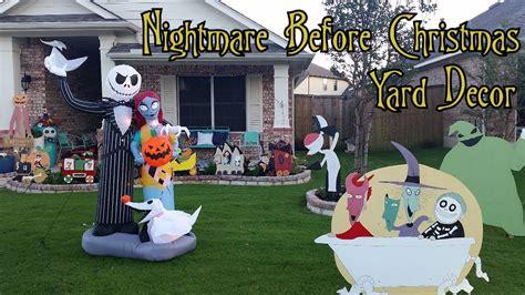 nightmare before yard decorations town nightmare before yard