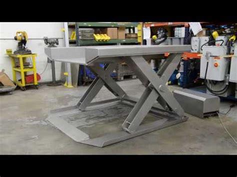 stainless steel floor level lift table youtube