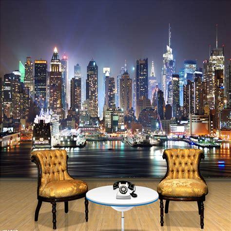 custom  photo wallpaper  york city night wall