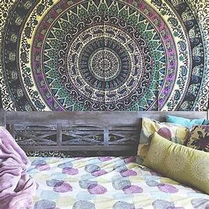INDIAN ELEPHANT MANDALA - Tapestry Wall Hanging Hippie