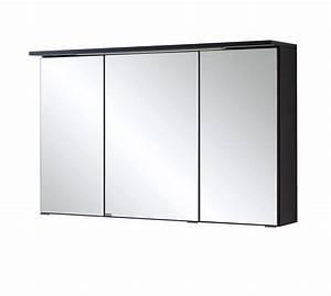 Spiegelschrank 100 Cm Led : bad spiegelschrank bologna 3 t rig mit led lichtleiste 100 cm breit graphitgrau bad ~ Bigdaddyawards.com Haus und Dekorationen