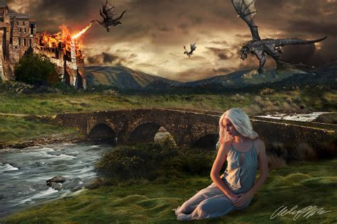 daenerys   dragons game  thrones wallpaper