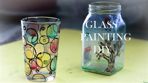 glass painting ideas youtube