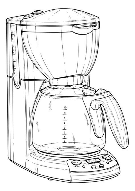 Disegno da colorare macchina del caffè - Cat. 22205. Images