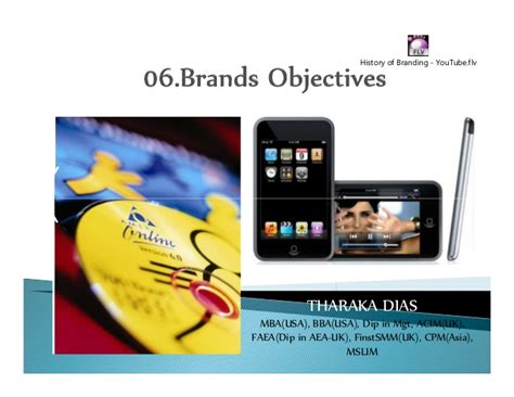 brand management objectives 06 brand objectives
