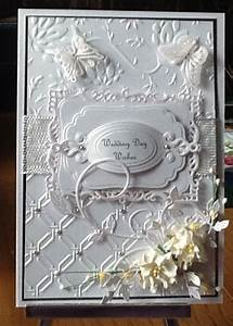 wedding card with the spellbinders embossing folder and With wedding invitation embossing folder