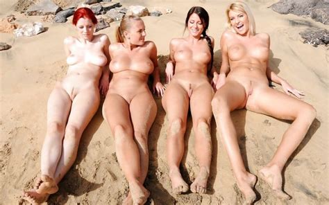 At The Beach Group Of Nude Girls Luscious