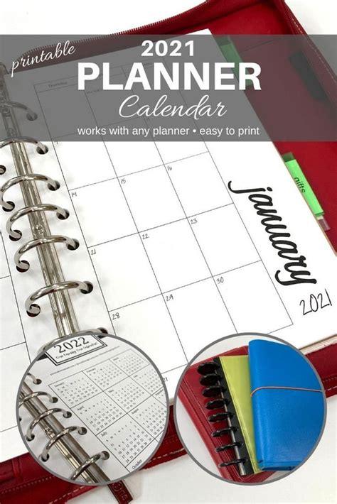 planner calendar printable  works